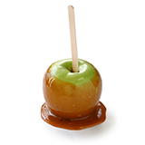 Photo of a caramel apple